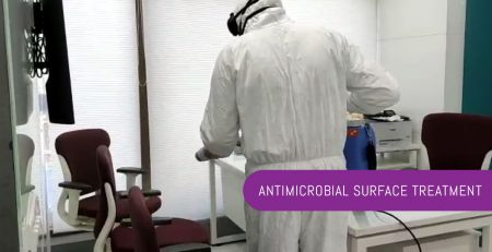 Antimicrobial surface treatment